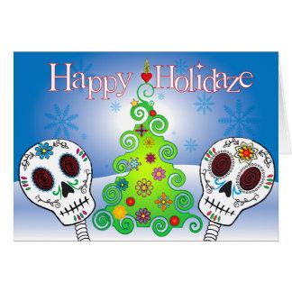 Holidaze Sugar Skulls Card