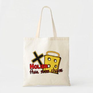 Holier Than Swiss Cheese Tote Bag
