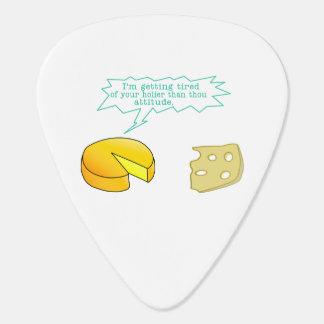 Holier Than Thou Attitude Cheese Guitar Pick