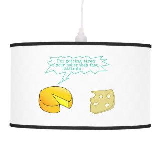 Holier Than Thou Attitude Cheese Pendant Lamp