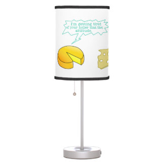 Holier Than Thou Attitude Cheese Table Lamp
