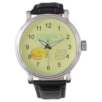 Holier Than Thou Attitude Cheese Wristwatch