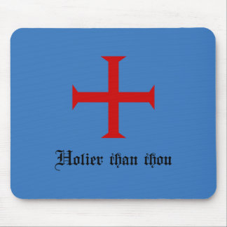 Holier Than Thou   Funny   Templar Cross Mouse Pad