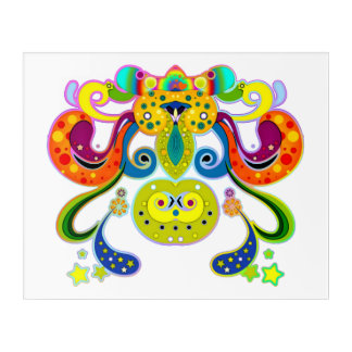 holiES - abstract happy holy Cow + your ideas Acrylic Print