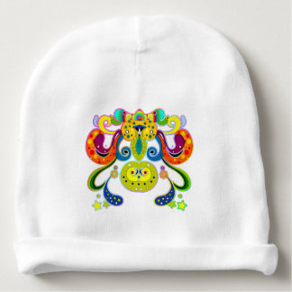 holiES - abstract happy holy Cow + your ideas Baby Beanie