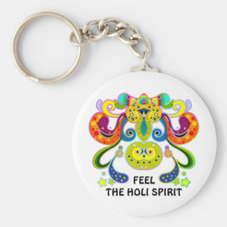 holiES - abstract happy holy Cow + your ideas Keychain