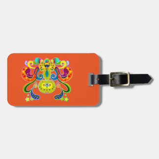 holiES - abstract happy holy Cow + your ideas Luggage Tag