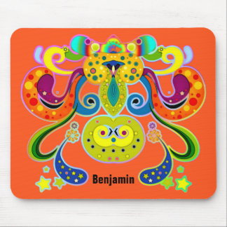 holiES - abstract happy holy Cow + your ideas Mouse Pad