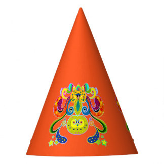 holiES - abstract happy holy Cow + your ideas Party Hat