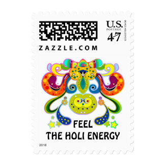 holiES - abstract happy holy Cow + your ideas Postage