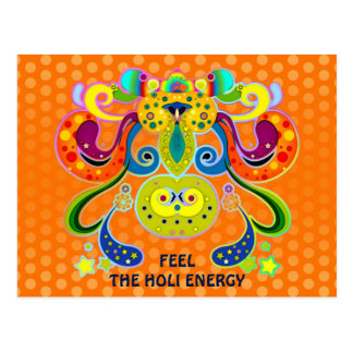 holiES - abstract happy holy Cow + your ideas Postcard