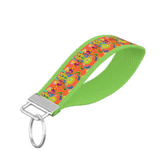 holiES - abstract happy holy Cow + your ideas Wrist Keychain