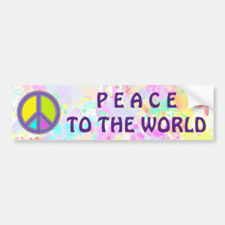 holiES - colorful PEACE sign + your ideas Bumper Sticker