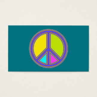 holiES - colorful PEACE sign + your ideas Business Card