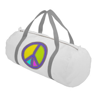 holiES - colorful PEACE sign + your ideas Duffle Bag