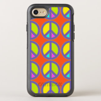 holiES - colorful PEACE sign + your ideas OtterBox Symmetry iPhone 7 Case