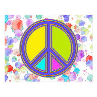 holiES - colorful PEACE sign + your ideas Postcard