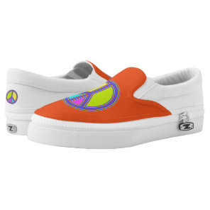 holiES - colorful PEACE sign   your ideas Slip-On Sneakers