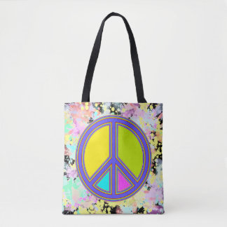 holiES - colorful PEACE sign + your ideas Tote Bag