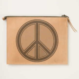 holiES - colorful PEACE sign + your ideas Travel Pouch