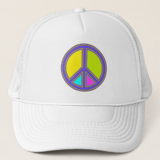 holiES - colorful PEACE sign + your ideas Trucker Hat