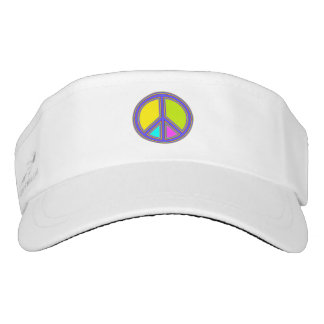 holiES - colorful PEACE sign + your ideas Visor