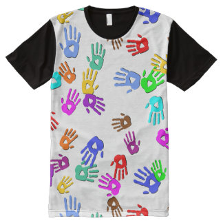 holiES - hands colored pattern 1 + your backgr. All-Over-Print T-Shirt
