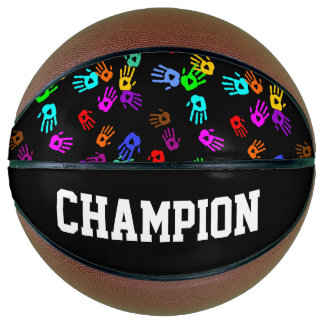 holiES - hands colored pattern 1 + your backgr. Basketball