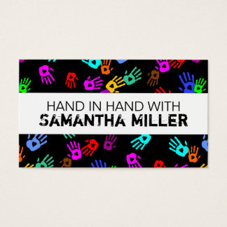 holiES - hands colored pattern 1 + your backgr. Business Card