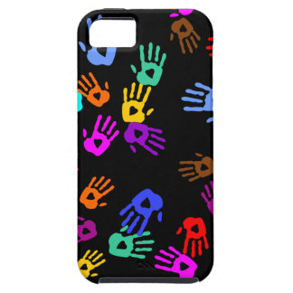holiES - hands colored pattern 1 + your backgr. iPhone SE/5/5s Case