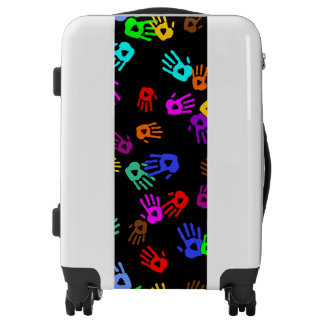 holiES - hands colored pattern 1 + your backgr. Luggage