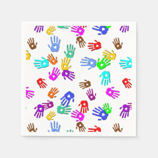 holiES - hands colored pattern 1 + your backgr. Napkin
