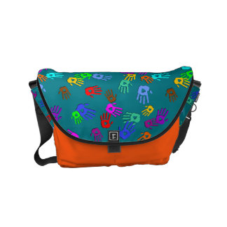 holiES - hands colored pattern 1 + your backgr. Small Messenger Bag