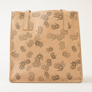 holiES - hands colored pattern 1 + your backgr. Tote