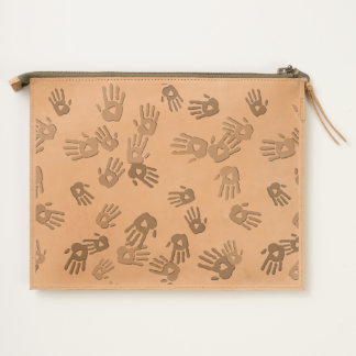 holiES - hands colored pattern 1 + your backgr. Travel Pouch