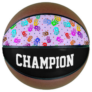 holiES - hands dots colored pattern 1 Basketball