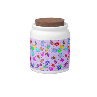 holiES - hands dots colored pattern 1 Candy Jar