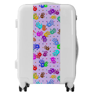holiES - hands dots colored pattern 1 Luggage