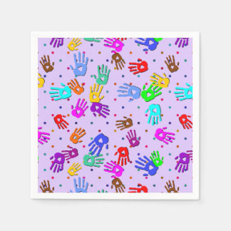 holiES - hands dots colored pattern 1 Napkin