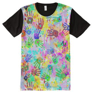 holiES - hands splashes colored grunge pattern 2 All-Over-Print Shirt