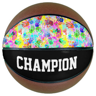 holiES - hands splashes colored grunge pattern 2 Basketball