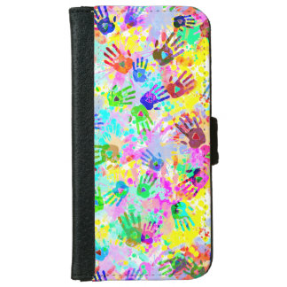 holiES - hands splashes colored grunge pattern 2 iPhone 6/6s Wallet Case