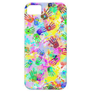 holiES - hands splashes colored grunge pattern 2 iPhone SE/5/5s Case