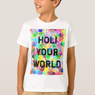 holiES - hands splashes colored grunge pattern 2 T-Shirt