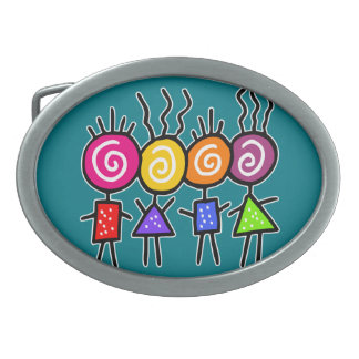 holiES - HOLI BEST FRIENDS + your ideas Oval Belt Buckle