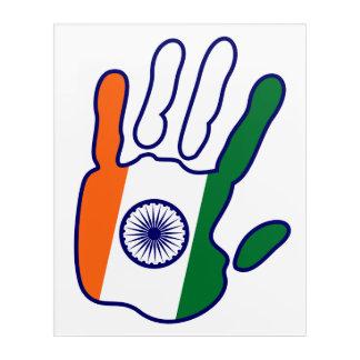 holiES - India Flag Hand - be a fan Acrylic Wall Art