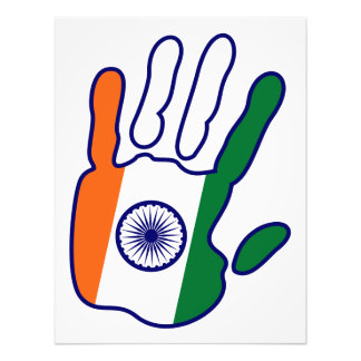 holiES - India Flag Hand for your wall Photo Print