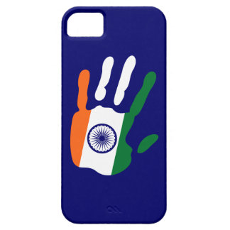 holiES - India Flag Hand + your backgrond color iPhone SE/5/5s Case
