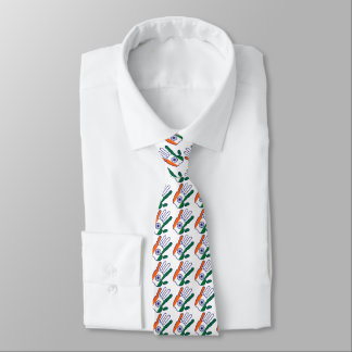 holiES - India Flag Hand + your backgrond color Tie