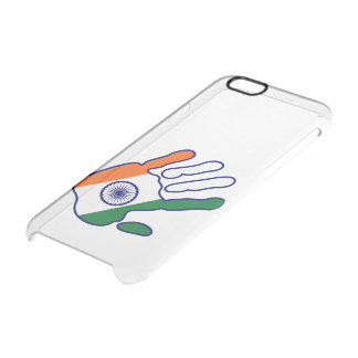 holiES - India Flag Hand + your ideas Clear iPhone 6/6S Case